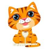Illustration of Cute Cartoon Cat vector illustration