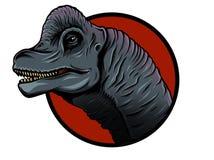 Illustration of cute cartoon dinosaur on white background. cute simple illustration of brachiosaurus. royalty free illustration