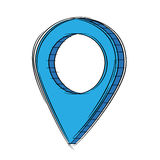 Illustration of Cute Cartoon Doodle of 3D Map Pointer Icon. EPS8. Stock Photography