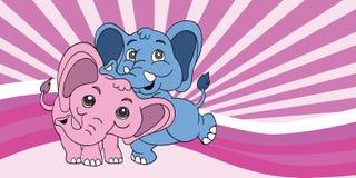 Illustration of Cute cartoon elephant. Vector illustration Stock Photography