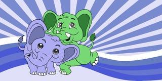 Illustration of Cute cartoon elephant. Vector illustration Royalty Free Stock Images