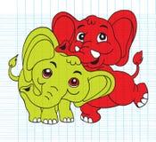 Illustration of Cute cartoon elephant. Vector illustration Royalty Free Stock Image