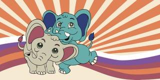 Illustration of Cute cartoon elephant. Vector illustration Stock Image