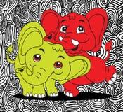 Illustration of Cute cartoon elephant. Vector illustration Royalty Free Stock Photos