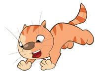 Illustration of a Cute Cat. Cartoon Character Royalty Free Stock Photos
