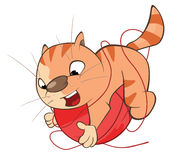 Illustration of a Cute Cat. Cartoon Character Stock Photos