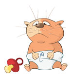 Illustration of a Cute Cat. Cartoon Character Royalty Free Stock Photography