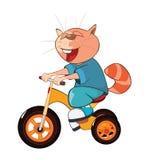 Illustration of a Cute Cat. Cartoon Character Stock Photo