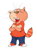 Illustration of a Cute Cat. Cartoon Character Stock Images