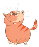 Illustration of a Cute Cat. Cartoon Character Stock Image