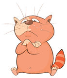 Illustration of a Cute Cat. Cartoon Character Royalty Free Stock Images