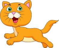 Cute cat cartoon running Stock Photos