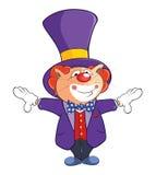 Illustration of a Cute Cat Clown. Cartoon Character Stock Image