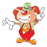 Illustration of a Cute Cat Clown. Cartoon Character Stock Photos