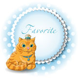Illustration of a cute cat. King vector Stock Photo
