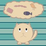 Illustration with cute cat Stock Photography