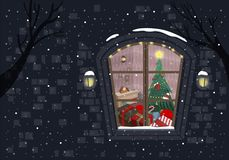 Midnight On Christmas Eve B vector illustration