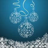 Illustration cute christmas composition. With balls - vector royalty free illustration