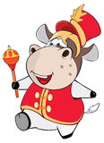 Illustration of a Cute Cow. Cartoon Character Royalty Free Stock Images