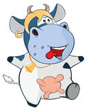 Illustration of a Cute Cow. Cartoon Character Royalty Free Stock Photos