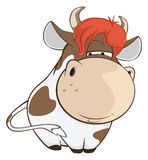 Illustration of a Cute Cow. Cartoon Character Stock Photo