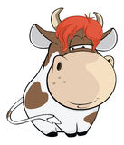 Illustration of a Cute Cow. Cartoon Character Royalty Free Stock Photo