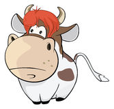 Illustration of a Cute Cow. Cartoon Character Stock Photography