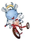 Illustration of a Cute Cow. Cartoon Character Stock Illustration