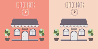Illustration of cute cozy cafe. Royalty Free Stock Image