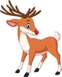 Cute deer cartoon. Illustration of Cute deer cartoon royalty free illustration