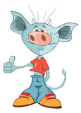 Illustration of a Cute Devil. Cartoon Character Royalty Free Stock Photo