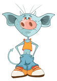 Illustration of a Cute Devil. Cartoon Character Stock Photo