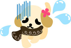 The illustration of cute dog Royalty Free Stock Image
