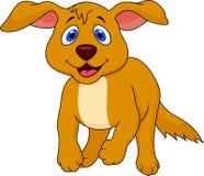 Cute dog cartoon running Stock Photo