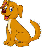 Cute dog cartoon sitting Royalty Free Stock Photography