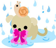 The illustration of cute dog Stock Image