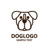 Illustration of cute dog logo on white background Stock Images