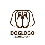 Illustration of cute dog logo on white background Royalty Free Stock Photography