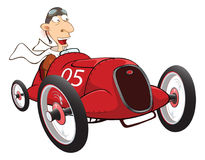 Illustration of a Cute Driven Sports car racing Royalty Free Stock Photo