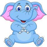 Cute elephant cartoon sitting. Illustration of cute elephant cartoon sitting Stock Illustration