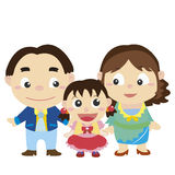 Illustration of cute family with white Stock Images