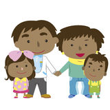 Illustration of cute family with white Royalty Free Stock Photos