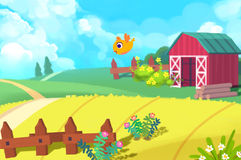 Illustration: The Cute Farm. Stock Images