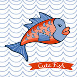 Illustration of cute fish character. In vector format Royalty Free Stock Images