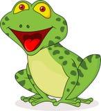 Cute frog cartoon Stock Images