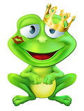 Kissed frog prince Royalty Free Stock Photography