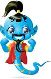 Illustration of cute Genie Royalty Free Stock Images