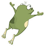 Illustration of a Cute Green Frog. Cartoon Character Royalty Free Stock Photo