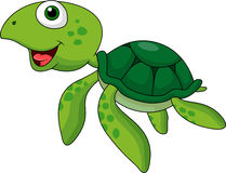 Green turtle cartoon Stock Photo