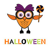 An illustration of cute halloween owl Stock Images